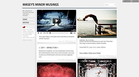 My tumblr blog 'Masey's Minor Musings'