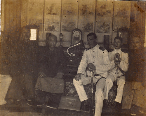 Naval officers in Luchou (Luzhou) in Sichuan, China? A gunboat crew on the Yangtze? Naval attaches?