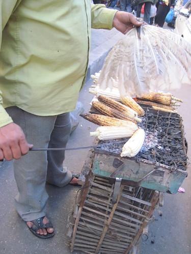 Roasting Corn in Khan Al Khalili