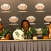 Robert Griffin III and Jay Finley at 2010 Texas Bowl Post Game