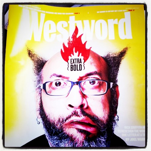 My buddy Rick Griffith on the cover of Westword. Raaad.