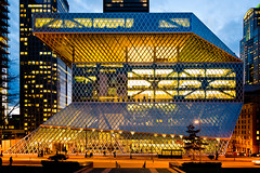 Rem (aqui-ali) Tags: seattle glass metal washington exterior fv5 remkoolhaas wa architecure seattlecentralpubliclibrary