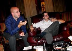 Smokin' da pipe (AzyxA) Tags: phil pipe martini smoking shawn smoker cigarbar pipeman