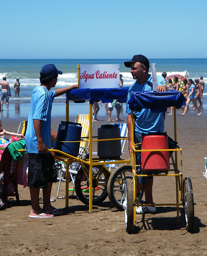 Hot Water | Agua Caliente on the Beach in Necochea, Argentina by katiemetz, on Flickr