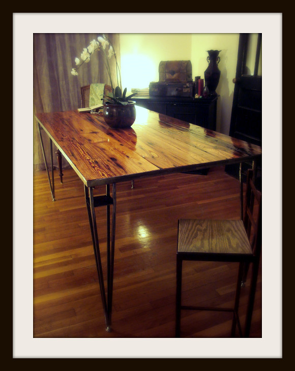 Sleek Rustic Modern Eco-Friendly Table 2