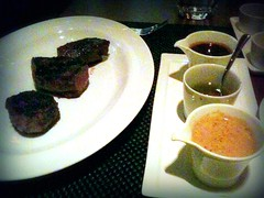 Tasting of New York Sirloin, Wolfgang Puck's Cut, Marina Bay Sands, Singapore