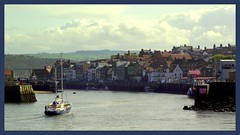 Framed;Whitby (* RICHARD M (Over 5 million views)) Tags: winter boats harbour framed yorkshire ships january maritime whitby rivers nautical framing northyorkshire scapes riveresk sailingwater
