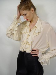 Diane Von Furstenberg Cream Silk Ruffle Poet Blouse 6 (mondas66) Tags: ruffles lace silk ascot blouse poet romantic elegant ornate lacy silky dainty prim frilly elegance jabot ruffle demure blouses silken frills frill ruffled dianevonfurstenberg flouncy flounce lacework frilled flounces frilling frillings befrilled