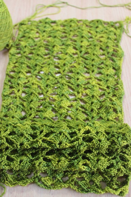 Echarpe Pointes Violettes scarf - WIP