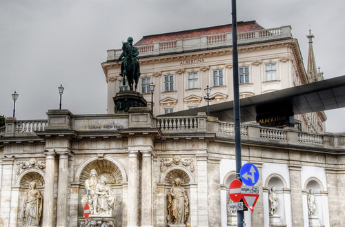 Albertina theatre. Vienna. Teatro Albertina. Viena