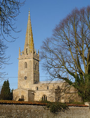 All Saints, Coleby (tjsphotobrigg) Tags: uk winter england tower church sunshine buildings villages lincolnshire spire atchitecture coleby