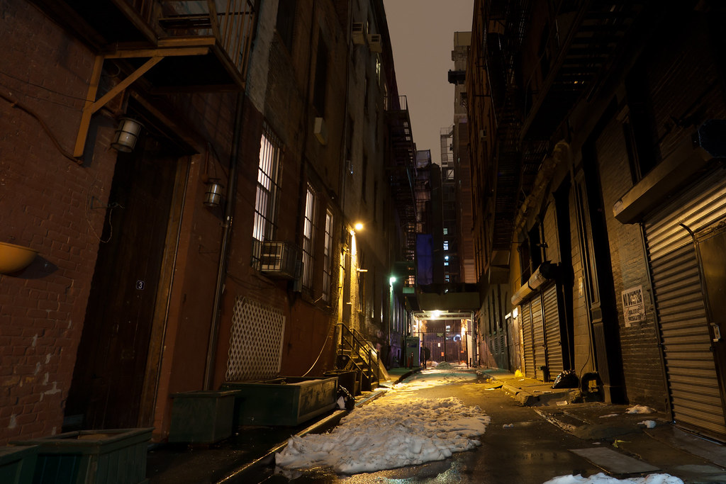 Great Jones Alley at Night