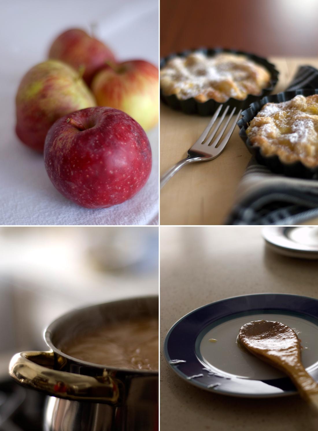 Crostata de maçã e baunilha