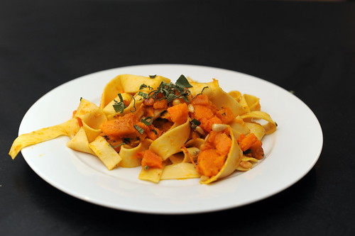 pasta with kabocha squash, sage and brown butter