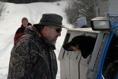 Bobcat Hunt 2011-51 (=Paul) Tags: snow upperpeninsula 50mm18 huntingdogs nikond200 20mm28 80200mm28 powersmichigan wildspiritguideservice bobcathunt