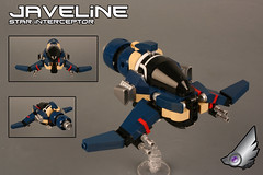 """JAVELINE"" star-interceptor (Shamisenfred) Tags: lego corsair corp interceptor cygnus starfighter"