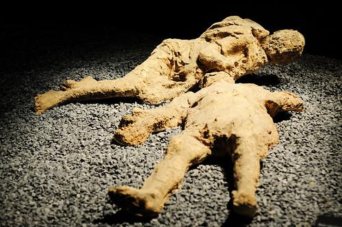 Pompeii Victim Resin Body Casts