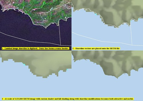 Marmara Island - SRTM EVS Modifications Before and After (1-25,000)