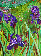 Part of my painting: The Deep Purple Irises Field (Nira Dabush) Tags: art studio photography design photo photographer graphic image designer painter  textiledesign  patterndesign    fineartist  textiledesigner tiledesign        painti8ngs irisfieldpurplenaturewatercolourwatercolortextiledesignerfineartistniradabush