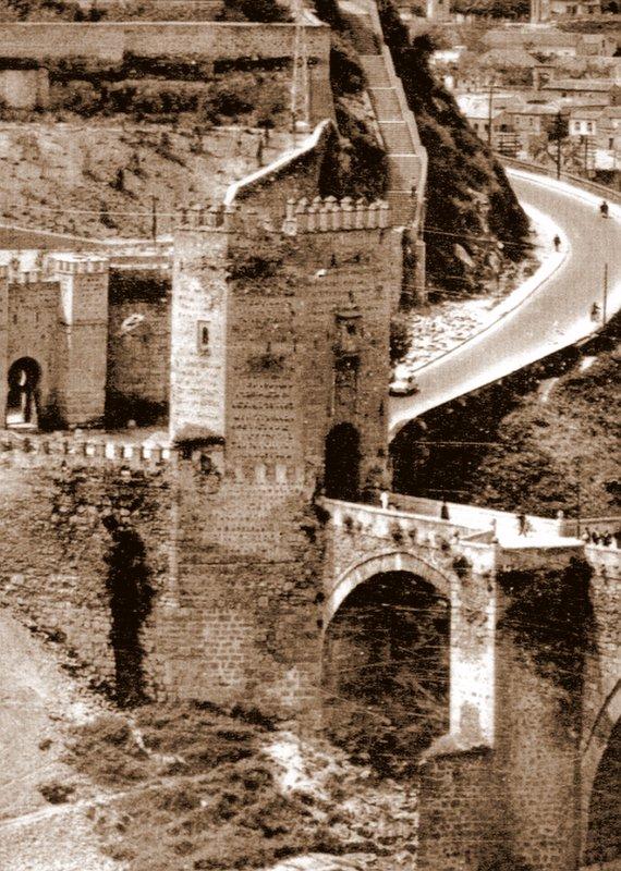 Puerta de Alcántara tras ser restaurada a mediados del siglo XX