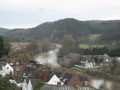 Muddy waters (bryanilona) Tags: shropshire rooftops riversevern muddywater bridgnorth supershot swollenriver scenicsnotjustlandscapes