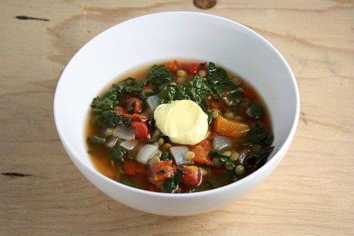 Lentil Soup with Tomatoes and Kale