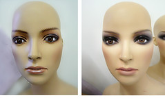 mannequin makeup - Repaint (buckaroo kid) Tags: mannequin painting model display makeup update glasseyes renovated repaint kathyarchbold mannequinmakeup