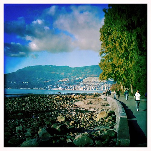 Seawall by 2nd beach in Vancouver
