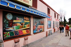 Quality Mural (Pedestrian Photographer) Tags: california ca cali losangeles los mural village angeles market walk quality sunday vince january meat stairway southern sidewalk socal atwater grocery northeast meats grocer av atwatervillage vinces nela beerwalk 2011