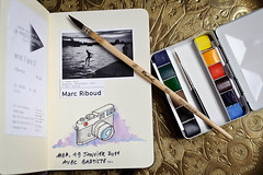 (Herv KERNEIS) Tags: france moleskine colors watercolor photographie expo couleurs aquarelle brush dessin crayon boite mep raphal carnet pinceau esquisse nikkor50mmf14 petitgris leicam sennelier marcriboud godets lagnysurmarne d700 seineetmarne77