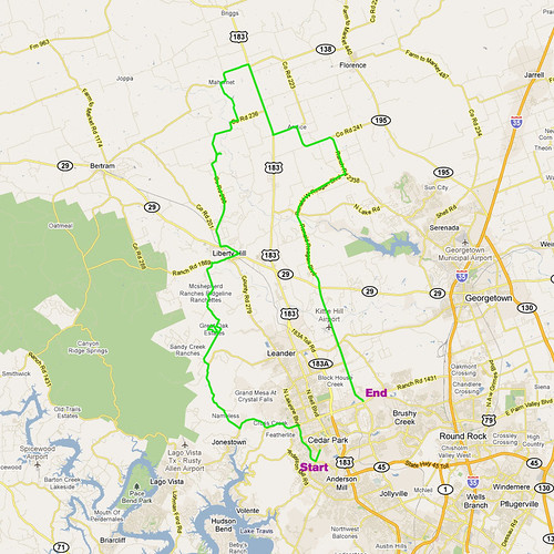 5-11-2011 Ride Route