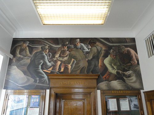 "Post Office Mural By Reuben Gambrell ""Kiln Room, Cement Plant"", Rockmart GA"