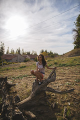 still. (ericigonzalez) Tags: portrait woman tree landscape photography lifestyle trunk