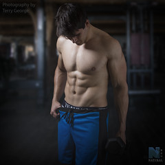 Zach Asher NFM (TerryGeorge.) Tags: natural fitness models abs six pack work out toned athletic terry george shirtless male model underwear gym