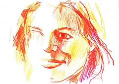PROYECTO 132-106 (GARGABLE) Tags: portrait retrato sketch madrid lápicesdecolores angelbeltrán apuntes gargable drawings dibujos proyecto 132 105 106