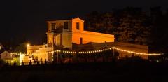 Pompejanum bei Nacht (mrocek) Tags: 2014 aschaffenburg bayern deutschland pompejanum nacht schloss schlossgarten schlossjubiläum mainufer main lichterkette lichter ufer unterfranken wasser panoramio7769543109663462