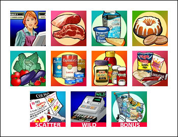 free Supermarket slot game symbols