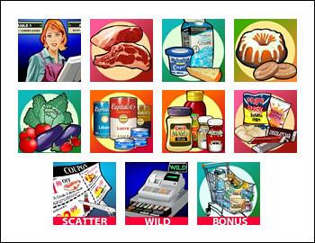 free Supermarket slot game symbols
