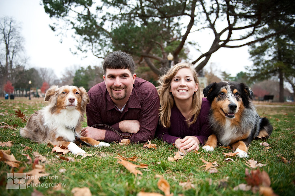 Jessica + Dan | Engagement session with dogs