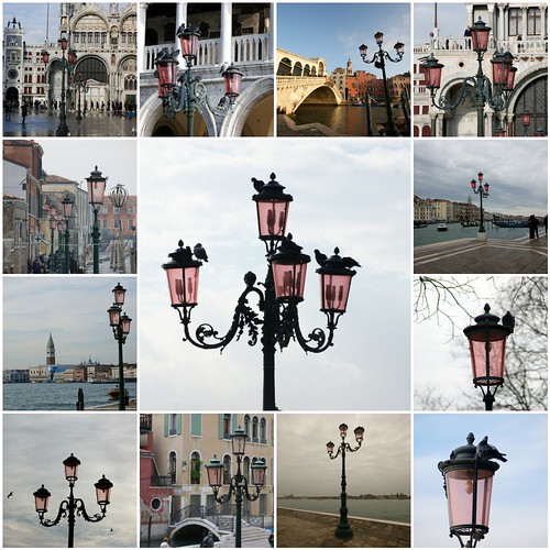 The gorgeous pink lamps of Venice