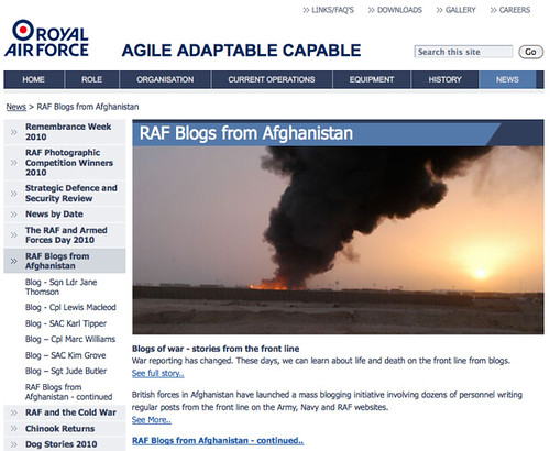 RAF Blogs from Afghanistan