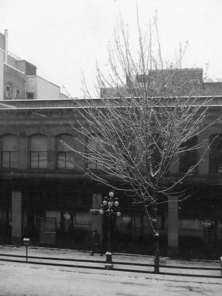 snowy Cordova Street