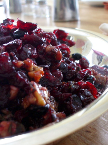 Roasted Cranberries with Red Wine