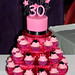 Pink & Black Stars Cake and Cupcakes