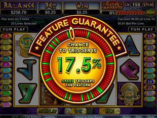 free Aztecs Treasure Feature Guarantee slot bonus