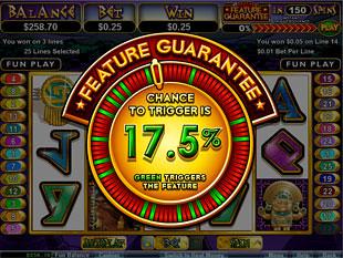 free Aztecs Treasure Feature Guarantee slot bonus