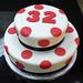 Red polka dot cake