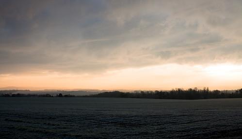 Winter morning view of the Ridgeway