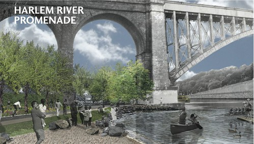Rendering for one of the Harlem River access sites