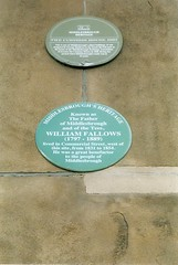 Photo of William Fallows green plaque